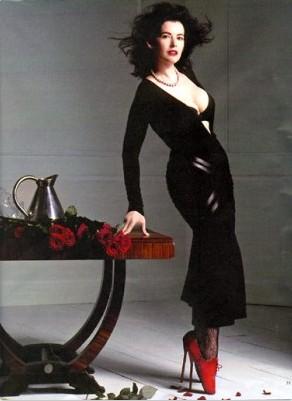 Nigella Lawson wearing ballet boots