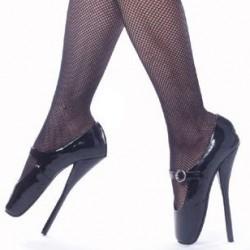 Fetish Ballet Pumps Instep Strap Buckle 7 inch heel