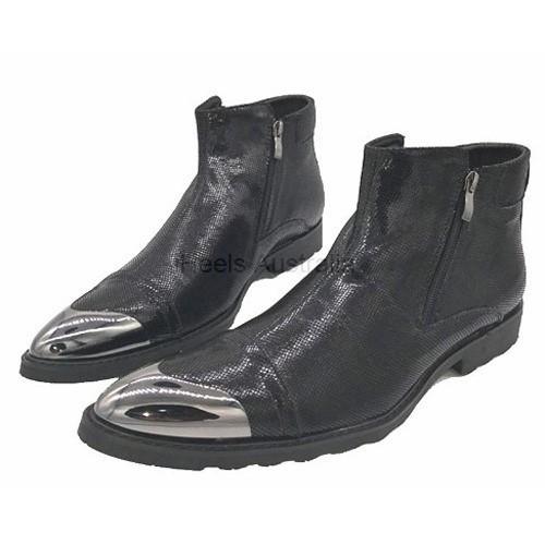 iHeels Men Gothic Biker Motorcycle Boots